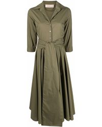 Blanca Vita フレアシャツドレス - グリーン
