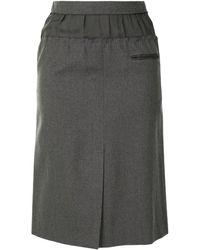 Louis Vuitton Юбка Прямого Кроя С Эластичным Поясом - Зеленый