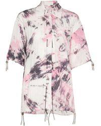 Angel Chen Tie-dye Short-sleeve Shirt - Pink