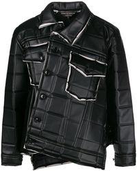 Comme des Garçons Asymmetrical Square-embossed Jacket - Black