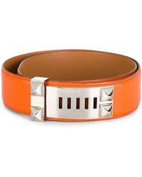 Hermès Cintura con dettagli borchiati - Giallo