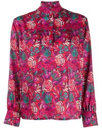 Roseanna Floral-print Blouse - Red