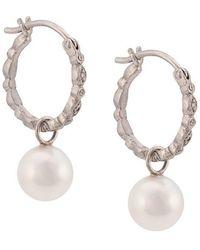 Cathy Waterman - Pearl Seed Hoop Earrings - Lyst