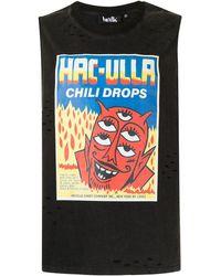 Haculla Chili Drops Sleeveless T-shirt - Black