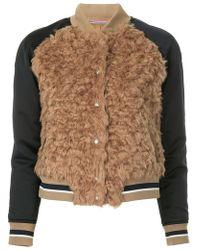 Guild Prime - Faux Fur Varsity Jacket - Lyst