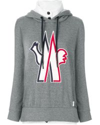 Moncler Grenoble - Logo Patch Hooded Sweatshirt - Lyst