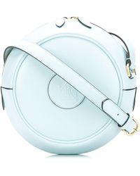 Lanvin Bandolera con logo en relieve - Azul