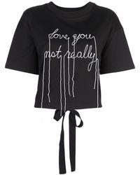 Haculla プリント Tシャツ - ブラック