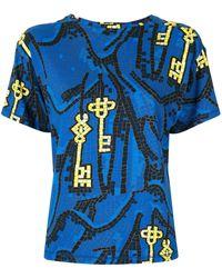 Karen Walker Key Of Knowledge Tシャツ - ブルー
