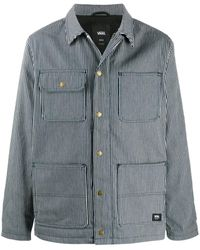 Vans ストライプ シャツジャケット - ブルー