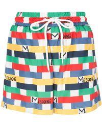 M Missoni ロゴ ショートパンツ - ブルー