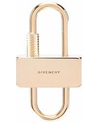 Givenchy Llavero con logo U grabado - Metálico