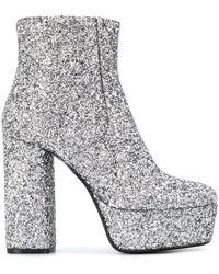 P.A.R.O.S.H. Glitter Platform Boots - Metallic