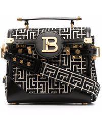 Balmain B-buzz 23 モノグラム ハンドバッグ - ブラック