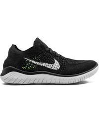 Nike Free Rn Flyknit 2018 Running Shoe (black)