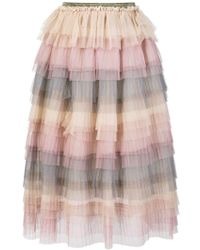 Caban Romantic - High-waisted Tiered Skirt - Lyst