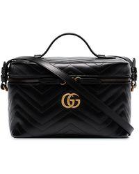 Gucci Большая Косметичка GG Marmont - Черный