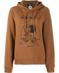 DSquared² Love Is Print Hoodie - Brown