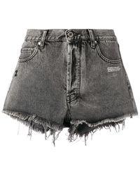 Off-White c/o Virgil Abloh - Gray Denim Five-pocket Shorts - Lyst