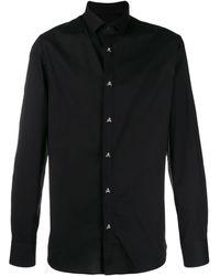 Philipp Plein スカルボタン シャツ - ブラック