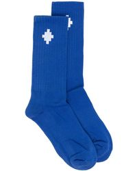 Marcelo Burlon クロスロゴ 靴下 - ブルー