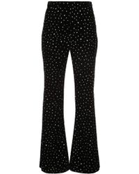 Christian Siriano - Crystal Embellished Flared Trousers - Lyst