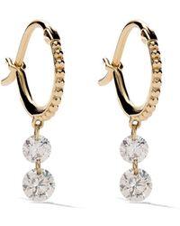 Raphaele Canot Pendientes Set Free Double Drop Diamond en oro amarillo de 18 kt - Metálico