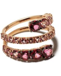 Brumani 18kt Rose Gold Topaz Yara Ring - Multicolor