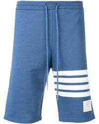 Thom Browne Sweatshort Met Jersey - Blauw