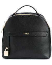 Furla Piper ロゴ バックパック - ブラック