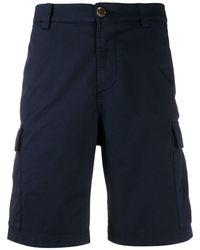 Brunello Cucinelli サイドポケット ショートパンツ - ブルー