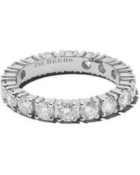 De Beers Platinum Db Classic Full Eternity Diamant 3.5mm Band - Metallic