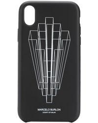 Marcelo Burlon Coque d'iPhone XR à logo imprimé graphique - Noir