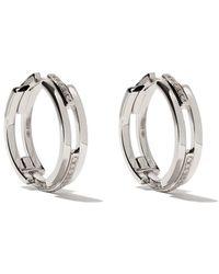Maison Dauphin 18kt White Gold And Diamond C3v Alternate Setting Earrings - Металлик