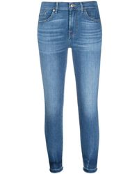 7 For All Mankind - Jeans skinny crop - Lyst
