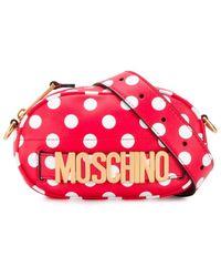 Moschino Polka Dot Belt Bag - Red