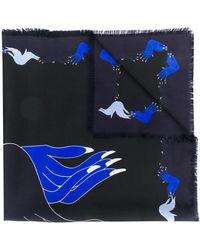 Marni プリント スカーフ - ブルー