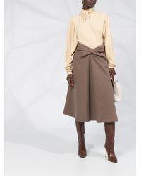 Lemaire ツイストディテール スカート - ブラウン