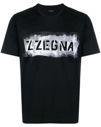 Z Zegna ロゴ Tシャツ - ブラック