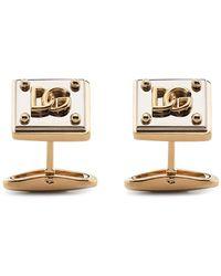Dolce & Gabbana ロゴプレート カフスボタン - メタリック