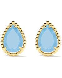 Boucheron 18kt Yellow Gold Serpent Bohème Turquoise S Motif Teardrop Stud Earrings - Multicolour