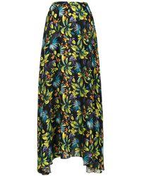 Amir Slama Printed Long Skirt - Зеленый