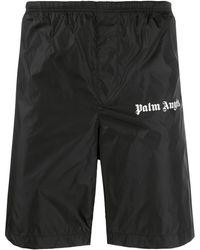 Palm Angels Short de bain à logo imprimé - Noir