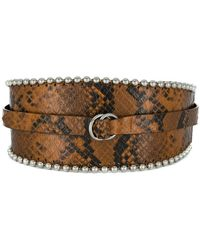Isabel Marant - Snakeskin Effect Thick Belt - Lyst