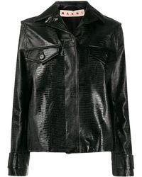 Marni Куртка С Тиснением Под Кожу Ящерицы - Черный
