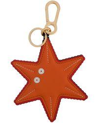 Loewe Starfish Bag Charm - Orange
