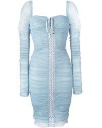 Dolce & Gabbana - Robe ajustée à détail de laçage - Lyst