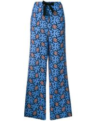 Victoria, Victoria Beckham - Graphic Print Trousers - Lyst