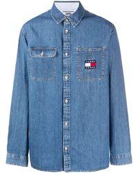 Tommy Hilfiger Jeanshemd mit lockerem Schnitt - Blau
