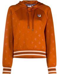 Fila Худи С Логотипом И Кулиской - Оранжевый